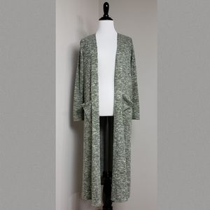 LuLaRoe Green Sarah Long Duster Cardigan Sweater